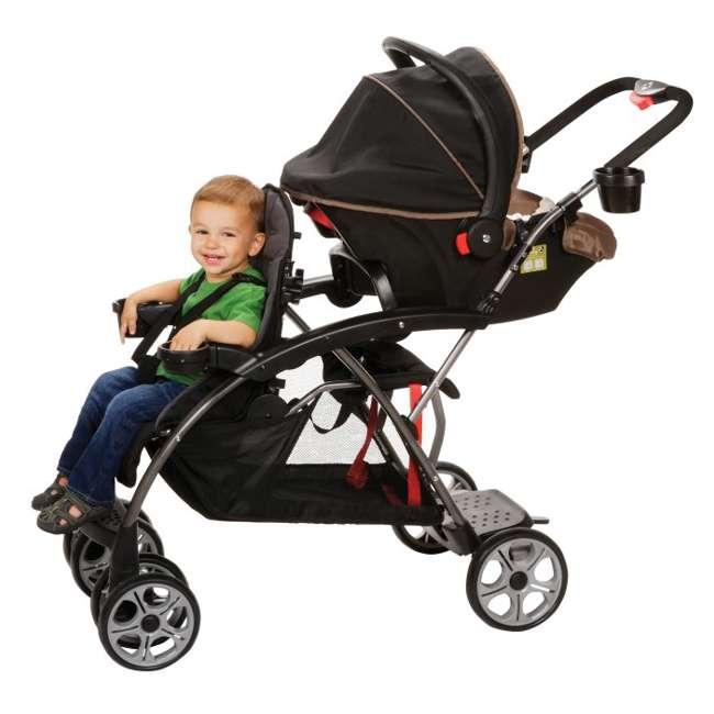 CV249BKJ Safety 1st Stand OnBoard Double Baby Stroller - Classic Black   CV249BKJ 2