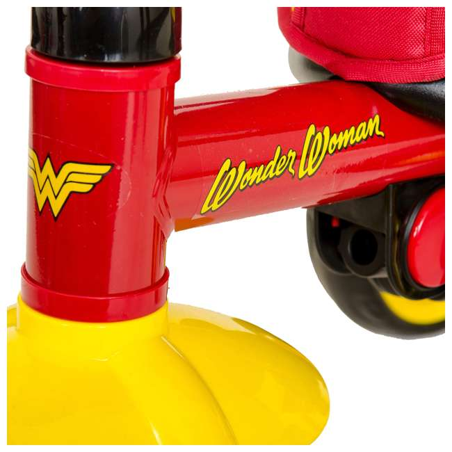 7501WWM Kids Embrace Wonder Woman 4-in-1 Push and Pedal Toddler Trike and Stroller, Red 4