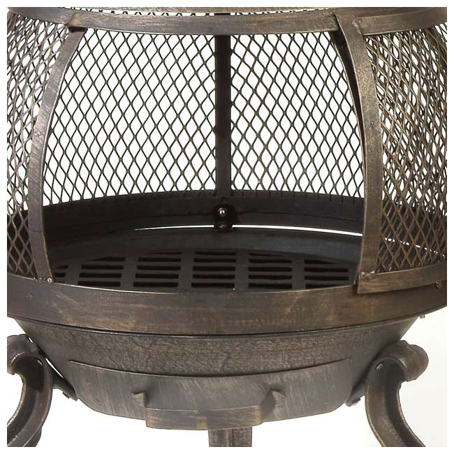 30199 Kay Home Products 30199 Sonora Outdoor Wood Burning Metal Chimenea Fireplace 3