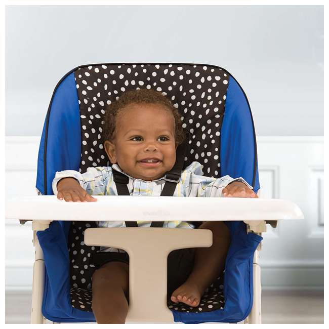 EVEN-25311874 Evenflo Symmetry Foldable Baby Toddler High Chair, Hayden Dot 4