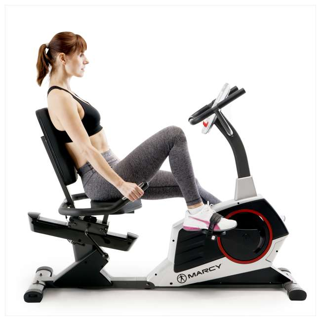 ME-706-U-C Marcy Regenerating Magnetic Recumbent Home Workout Exercise Bike (For Parts) 4