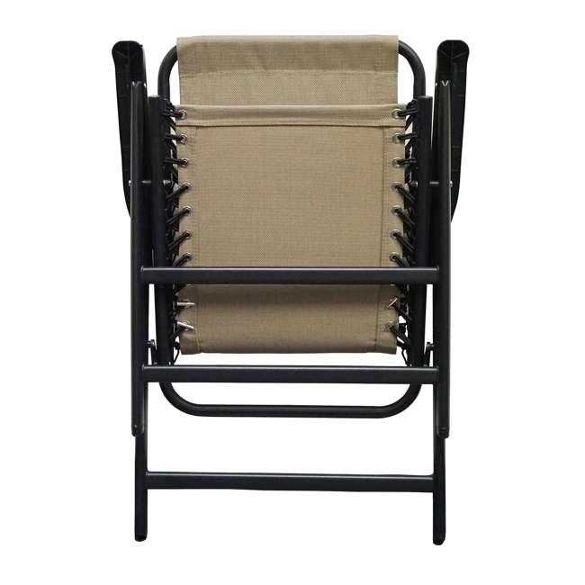 CVAN80012000152-2PK Caravan Canopy Infinity Suspension Folding Chair, Beige (2 Pack) 3