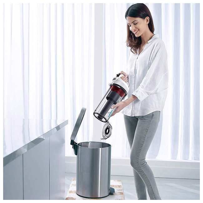 BDASP103 Black and Decker AirSwivel Upright Bagless Pet & Home Vacuum Cleaner, White 3