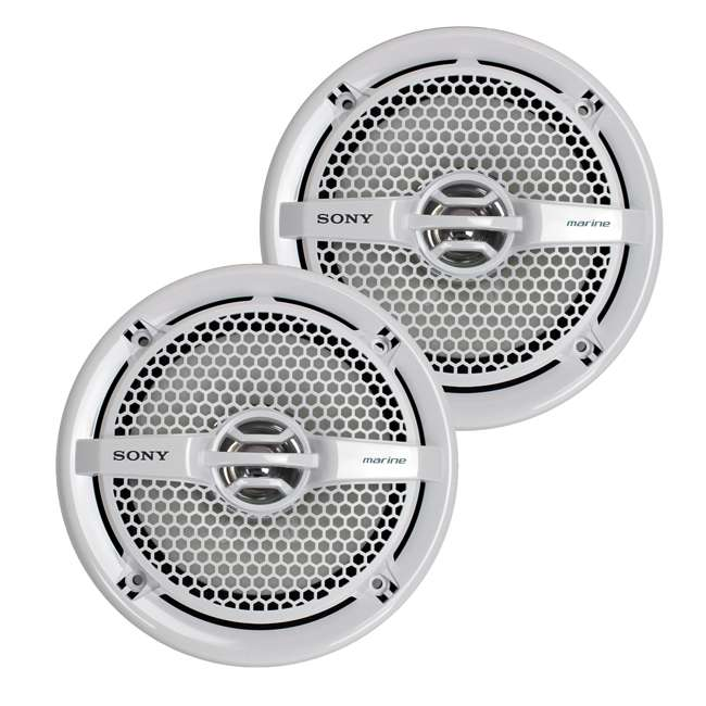 "5 x XSMP1611-U-A Sony 6.5"" 140 Watt Dual Cone Marine Stereo Speakers, White (Open Box) (5 Pack)"