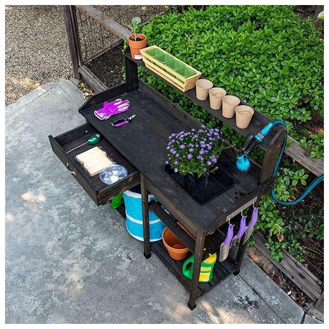729BL Bloom Natural Fir Potting Indoor/ Outdoor Work Bench/ Station w/ Sink & Storage 4