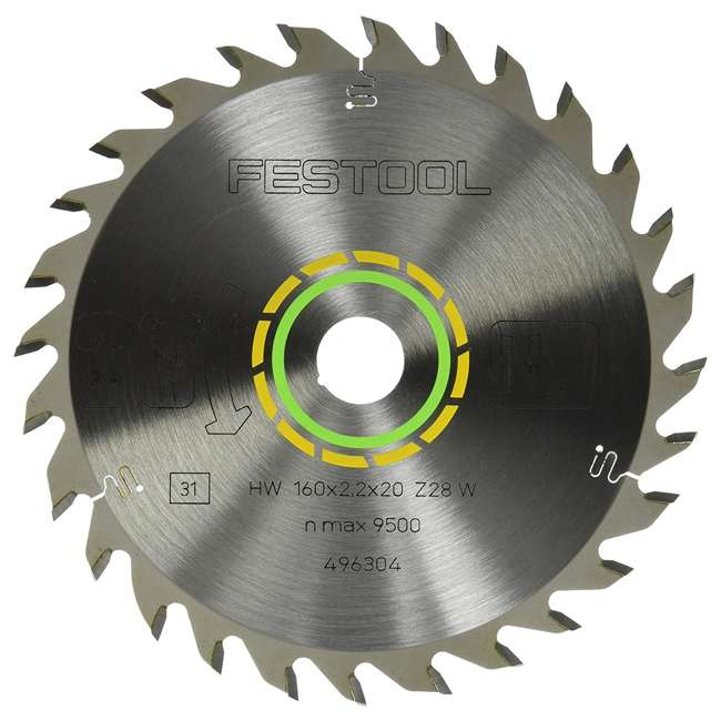 496304 Festool Universal Saw Blade for TS 55 Plunge Cut Saw 28 Tooth 6-1/4 Inch Diameter