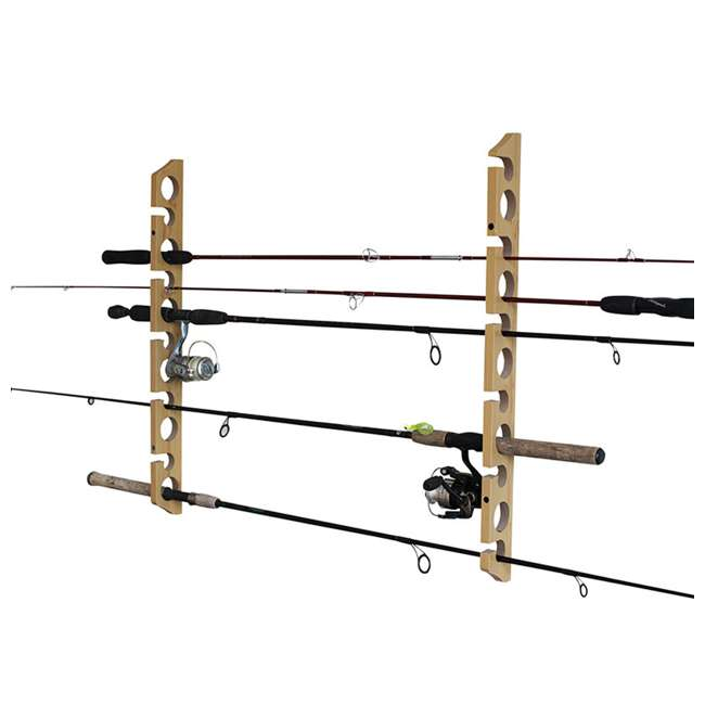 38-3017 Rush Creek Creations 38-3017 2 Piece 11 Pole 3 in 1 Wall and Ceiling Rod Rack