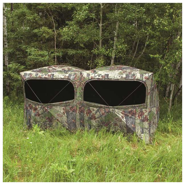 BARR-BE650BW Barronett Blinds BE650BW Big Beast Backwoods Double Wide Hub Hunting Blind, Camo 2