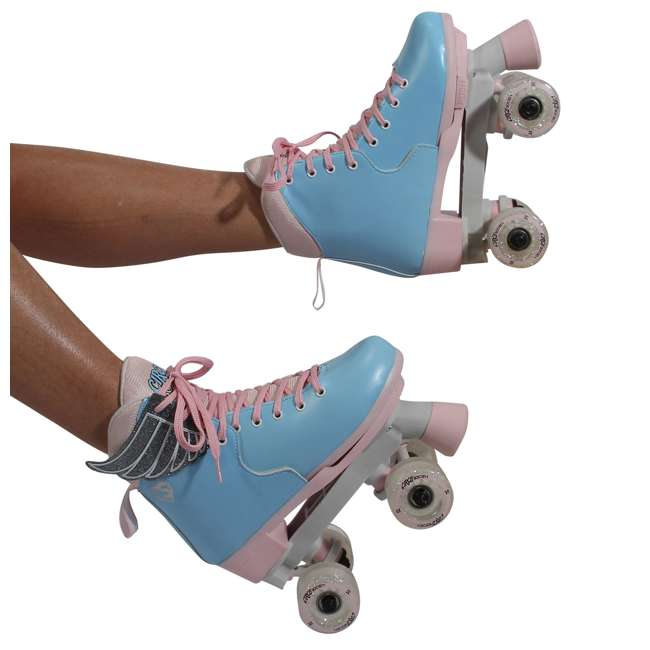 168260 Circle Society Classic Cotton Candy Kids Skates, Girls Sizes 12 to 3 9