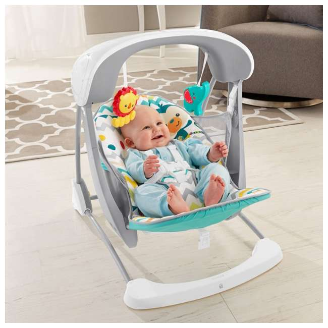 DPV46 Fisher Price Colorful Carnival Take-Along Infant Swing and Seat (2 Pack) 2