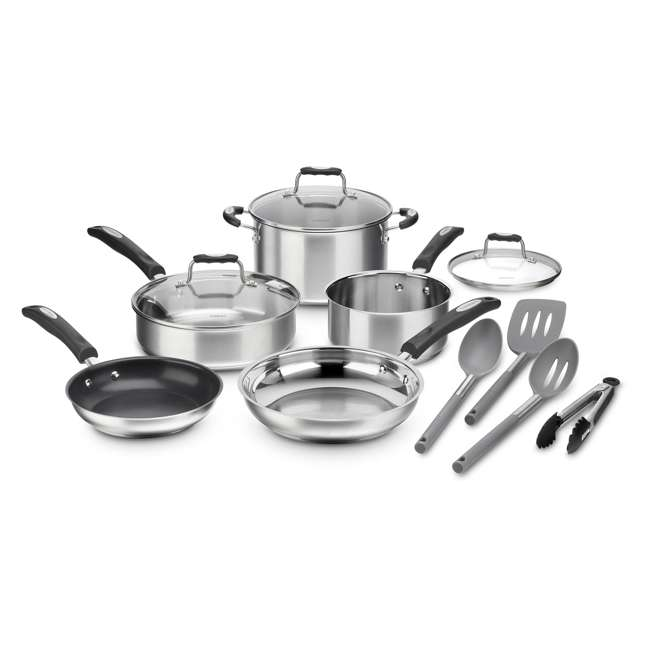 P87-12 Cuisinart Multiclad Pro Triple Ply Stainless Cookware 12 Piece Collection