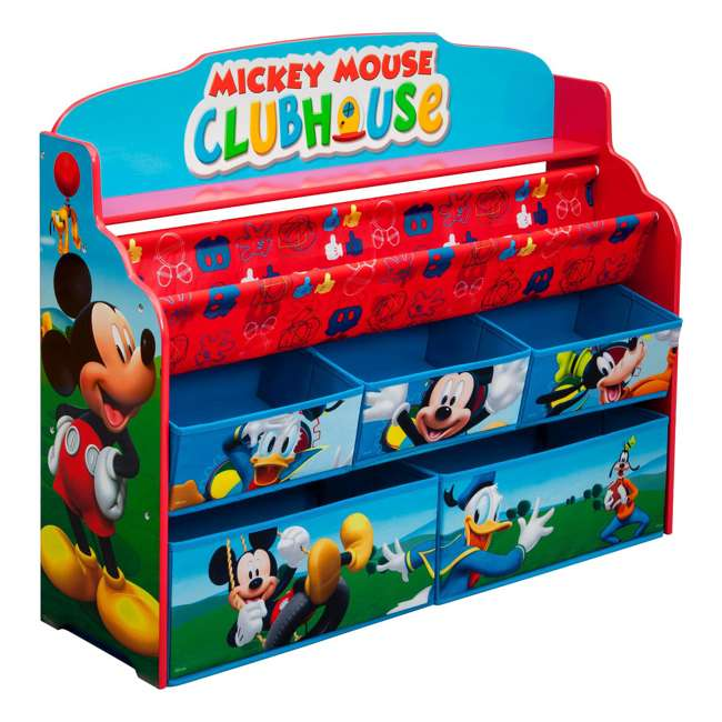 TB84983MM-1051 Delta Children Mickey Mouse Deluxe Book and Toy Organizer 3