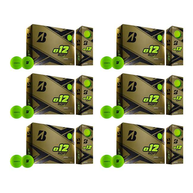 6 x 9CGX6D Bridgestone Golf Series e12 3-Piece Distance Golf Balls 1 Dozen, Green (6 Pack)