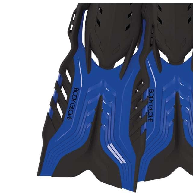 6 x 17810PSET Body Glove Predator Purge Large Mask, Snorkel, & Fins Set, Blue (6 Pack) 1