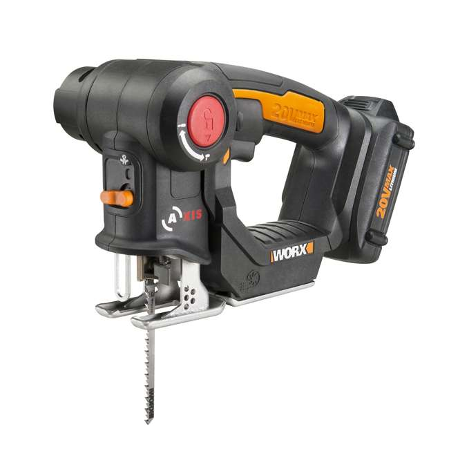 WX550L Worx 20V Axis MaxLithium Battery 2-In-1 Cordless Reciprocating and Jig Saw Tool
