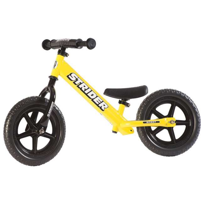 ST-S4YE Strider 12 Sport Balance Kids Learning Bike, Yellow