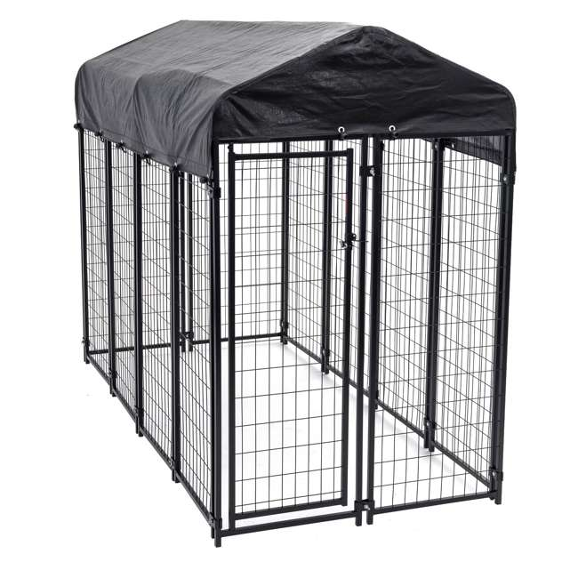 CL-60548-U-A Lucky Dog Uptown Large Welded Kennel Heavy Duty Dog Cage (Open Box) (2 Pack)