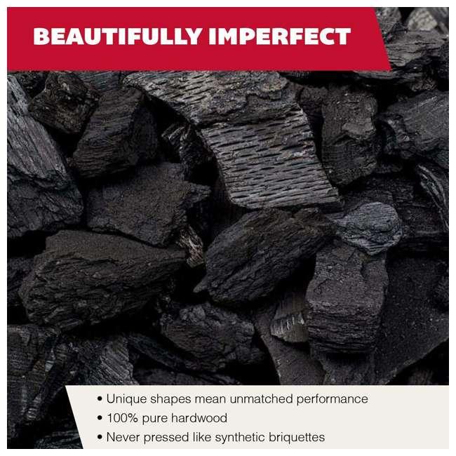 RW20 Rockwood All Natural Hardwood Grill or Smoker Lump Charcoal Mix, 20 Pound Bag 4