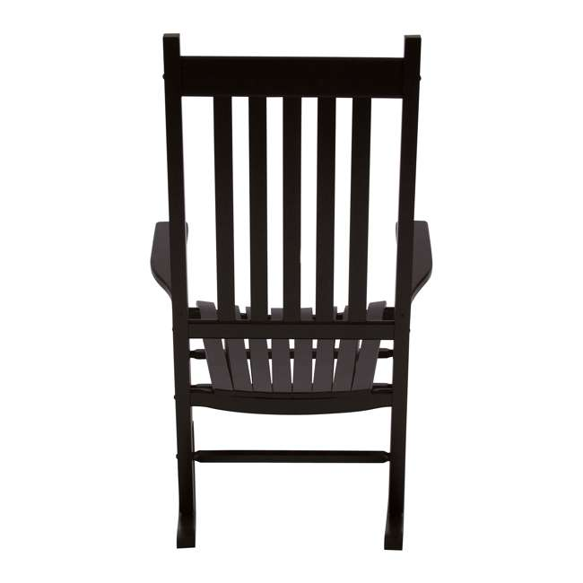 SHN-4332BK Shine Company Vermont Hardwood Outdoor Porch Patio Furniture Rocker Chair, Black 3