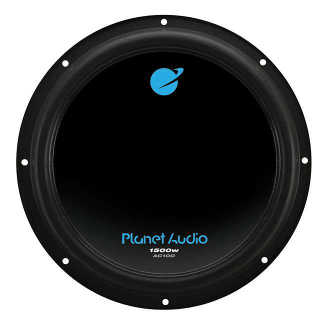 AC10D + QBASS10 + AC20002 + 4GAMPKIT-SFLEX Planet Audio AC10D 10-Inch 3000W Subwoofers with Ported Box with 2 Channel Amp with Wiring (Pair) 1