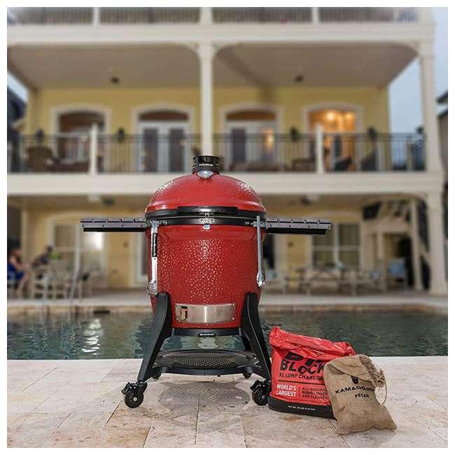 BJ24RHCI-A Kamado Joe BJ24NRHCI Big Joe III 24 In. Portable BBQ Ceramic Charcoal Grill, Red 2