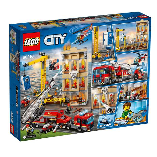 6251474 LEGO City 60216 Downtown Fire Brigade Block Building Kit with 7 Minifigures 6