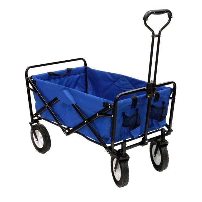 3 x MAC-WTC-111-BLUE-U-A Mac Sports Folding Steel Frame Outdoor Utility Wagon Cart (Open Box) (3 Pack) 1