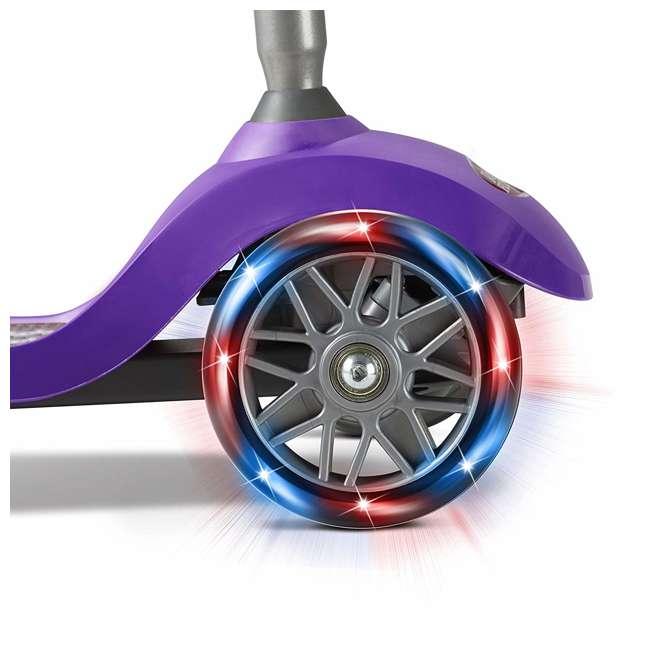 549PPZ Radio Flyer 549BZ Lean 'N Glide Kids 3-Wheel Scooter w/ Light Up Wheels, Purple 1