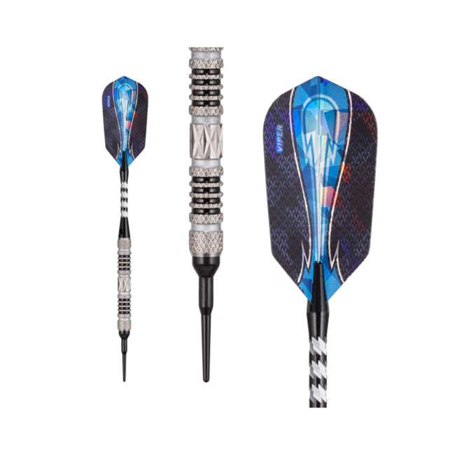 21-3279-16 Viper Astro Tungsten Soft Tip Darts 16g with Travel Case, Black Rings 1