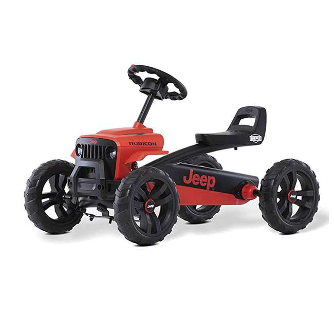 24.30.13.00 BERG Toys Jeep Buzzy Rubicon Pedal Powered Kids Safe Go Kart, Red