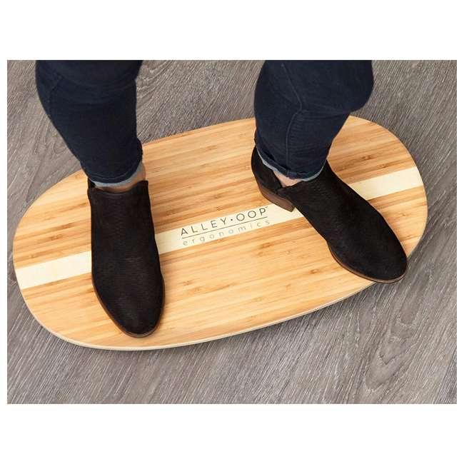 WRF-S-21770-00 JumpSport AlleyOOP Standing Desk Balancing Wood Rocker Board, Bamboo, Medium 2