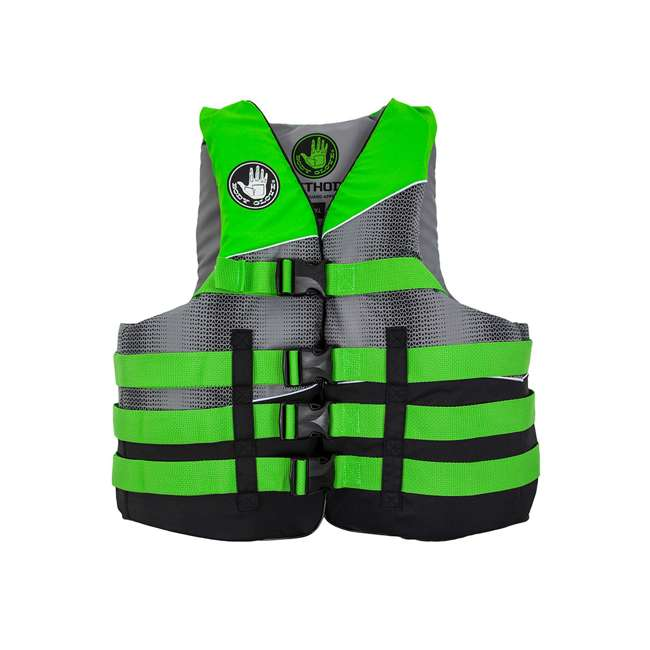 18243LXL Body Glove Method Size Large/Extra Large Life Vest, Green (2 Pack)