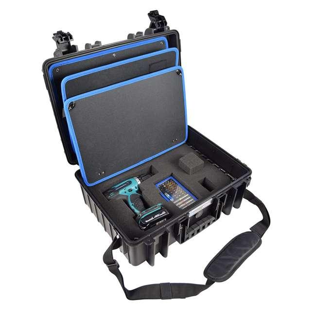 117.17/P B&W International Jumbo 500 Outdoor Tool Case with Pocket Tool Boards, Black 1