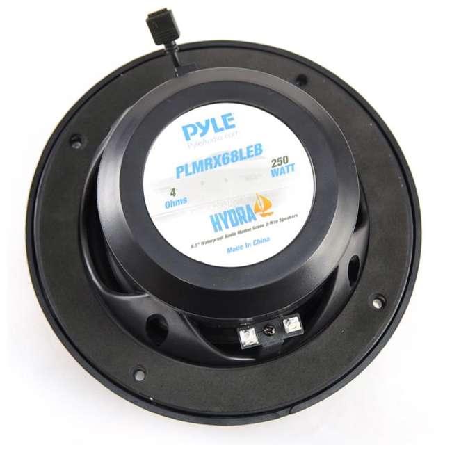 PLMRX68LEB Pyle PLMRX68LEB 6.5 Inch 250W Marine Boat Led Light Black Speakers (Pair) 4