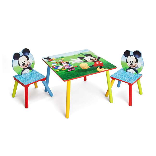 TT89450MM-1051 Delta Children Disney Mickey Mouse Wooden 3 Piece Table and Chair Set 1