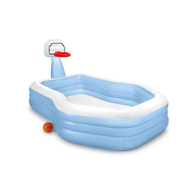 57183EP Intex 57183EP 101 Inch Swim Center Shootin' Hoops Inflatable Family Pool, Blue