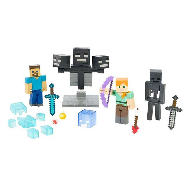 FCW12 Mattel Minecraft Wither Warfare Action Figures Toy Multipack (2 Pack) 1