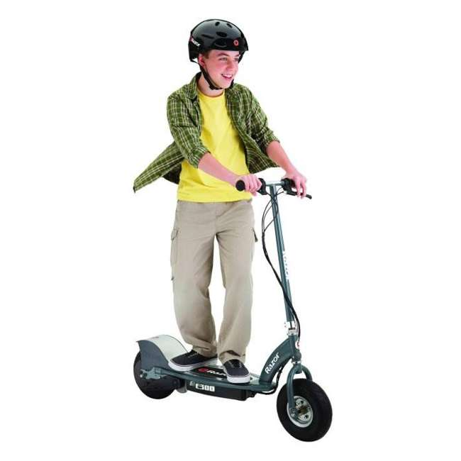 13113614 + 97778 Razor E300 Electric Scooter (Grey) & Youth Sport Helmet (Black) 4