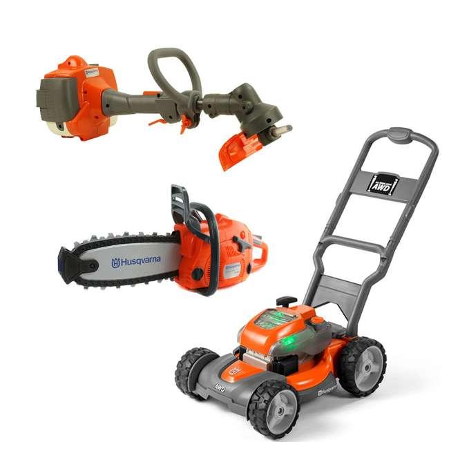 Husqvarna Battery Powered Kids Toy Lawn Mower Lawn