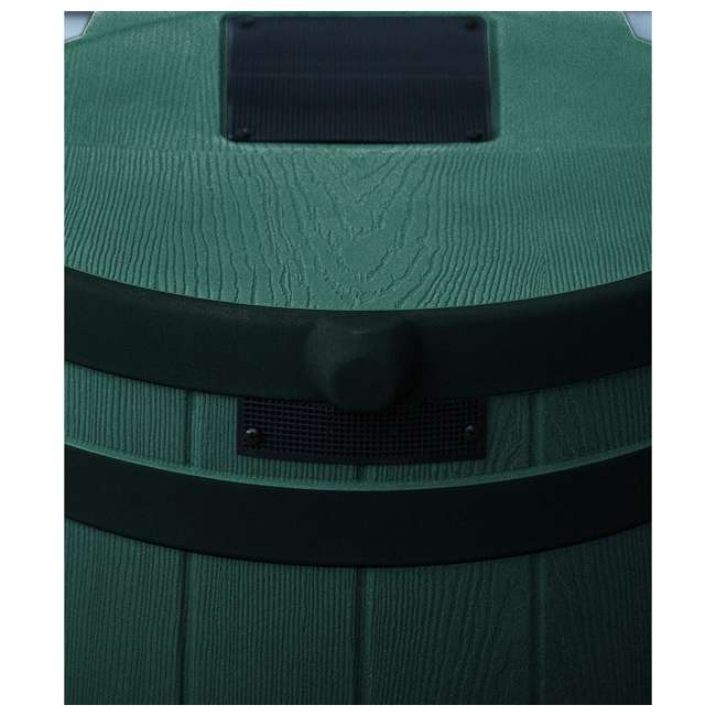 RW50-DR-GRN Good Ideas Rain Wizard Rain Collection Rain Barrel 50-Gallon Dark Ribs, Green 2