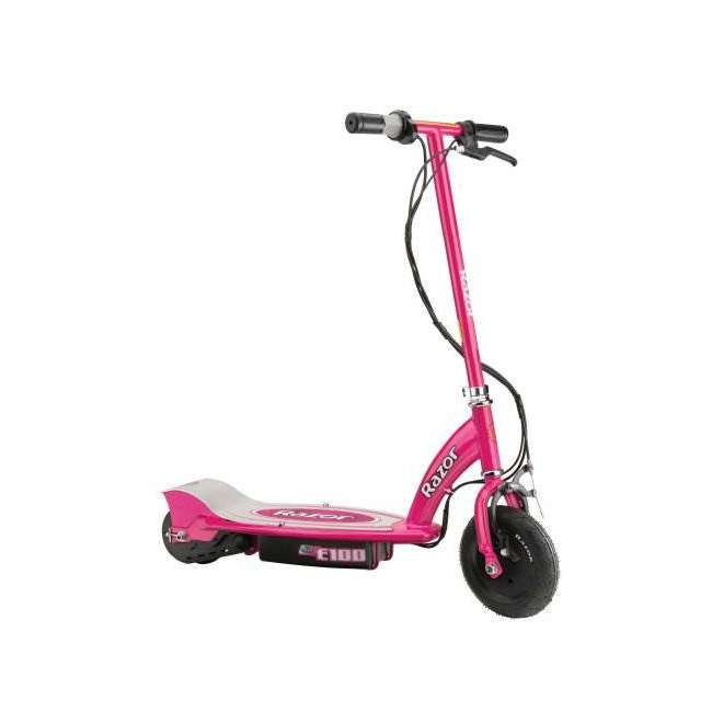 13111261 + 97783 Razor E100 Kids Motorized 24 Volt Electric Powered Ride On Scooter with Helmet 2