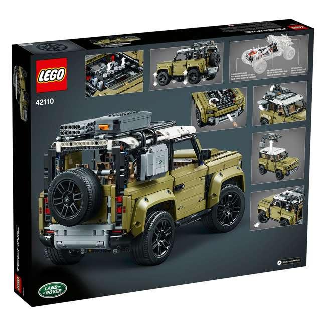 6283904 LEGO Technic 42110 Land Rover Defender 2573 Piece Block Building Kit Olive Green 2