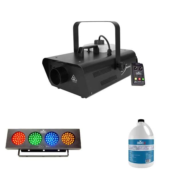 H1302 + FJU + DJBANK Chauvet Fog Machine & Fog Smoke Juice Fluid W/ Sound Active Light Strip