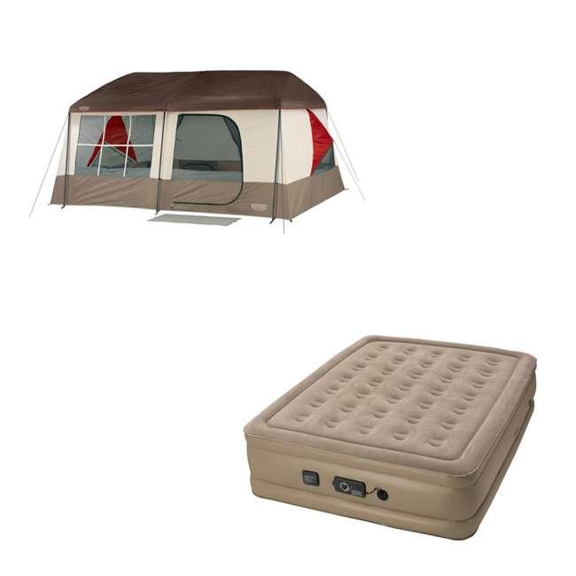 36423W + 840017 Wenzel Kodiak Camping Cabin Tent Insta-Bed Queen