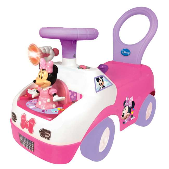 055541 Kiddieland Minnie Mouse Dancing Activity Ride-On Car, Pink