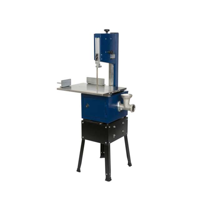 10-308 RIKON 10-308 10 Inch Meat Saw with Stainless Steel Sliding Table and Grinder 1