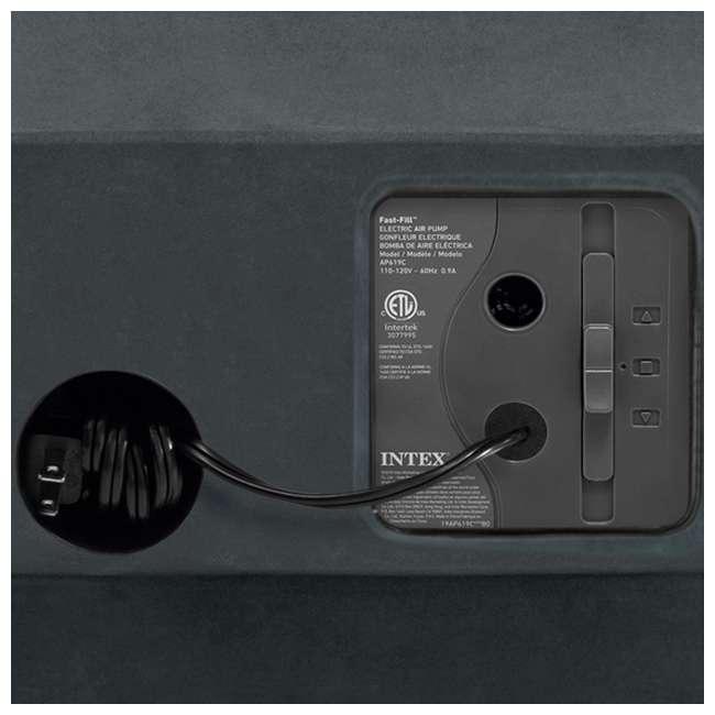 64417EP Intex Comfort High Rise Dura Beam Air Mattress w/ Built-In Pump, Queen (2 Pack) 5