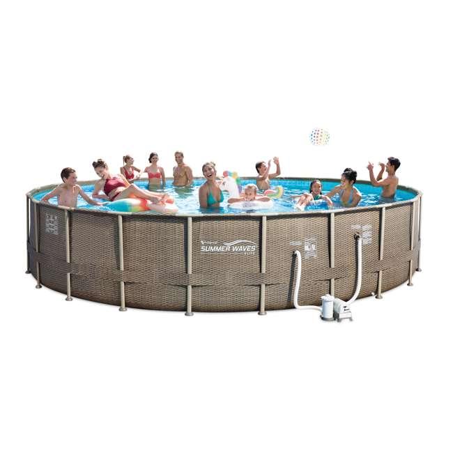 P4N02252B167 + 2 x K71071000167 Summer Waves Elite 22 Foot Pool Kit + Inflatable Rocking Chair Lounges (2 pack) 2