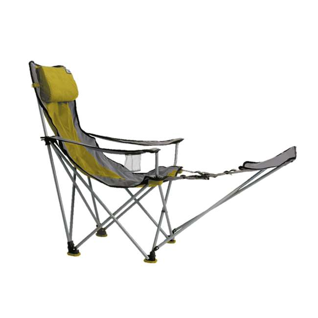 789FRVG TravelChair Big Bubba Portable Outdoor Folding Camp Chair Seat & Footrest, Green