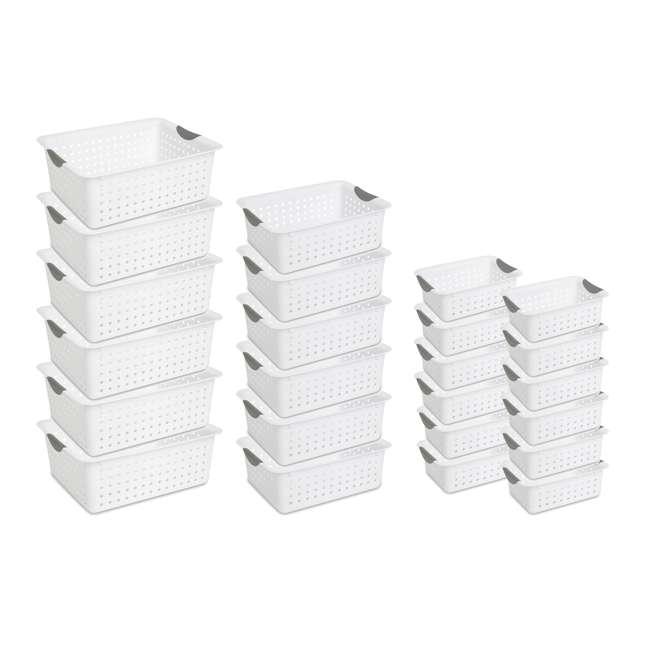 6 x 16268006 + 6 x 16248006 + 12 x 16228012 Sterilite Large Ultra Storage Basket (6 Pack) + Medium (6 Pack) + Small (12 Pack)